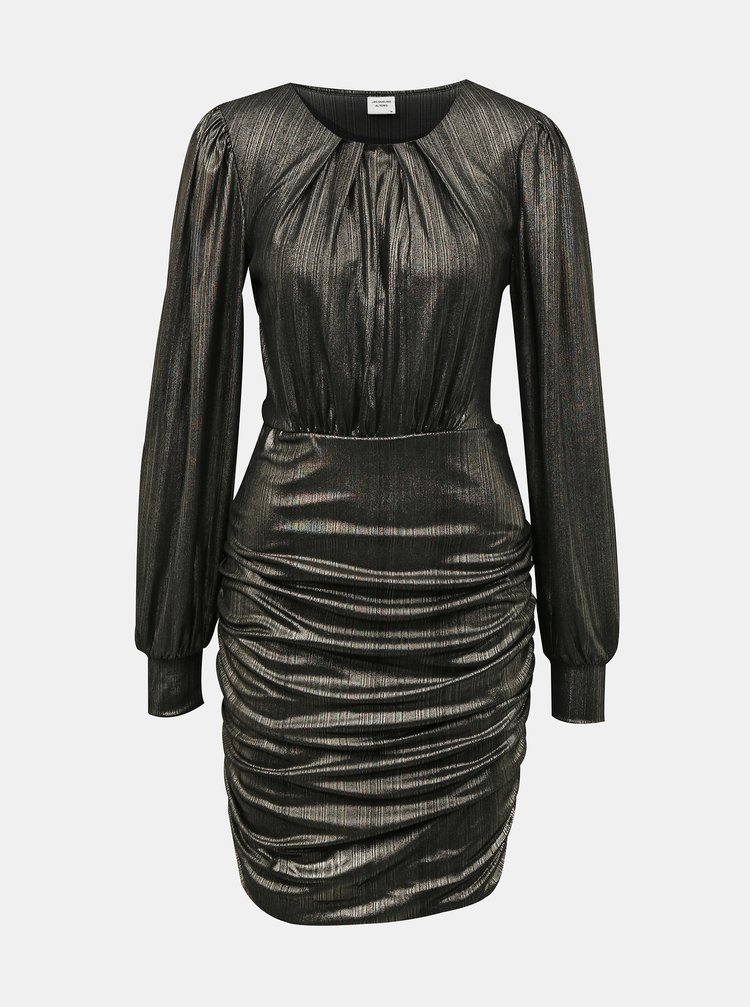 Čierne lesklé púzdrové šaty Jacqueline de Yong