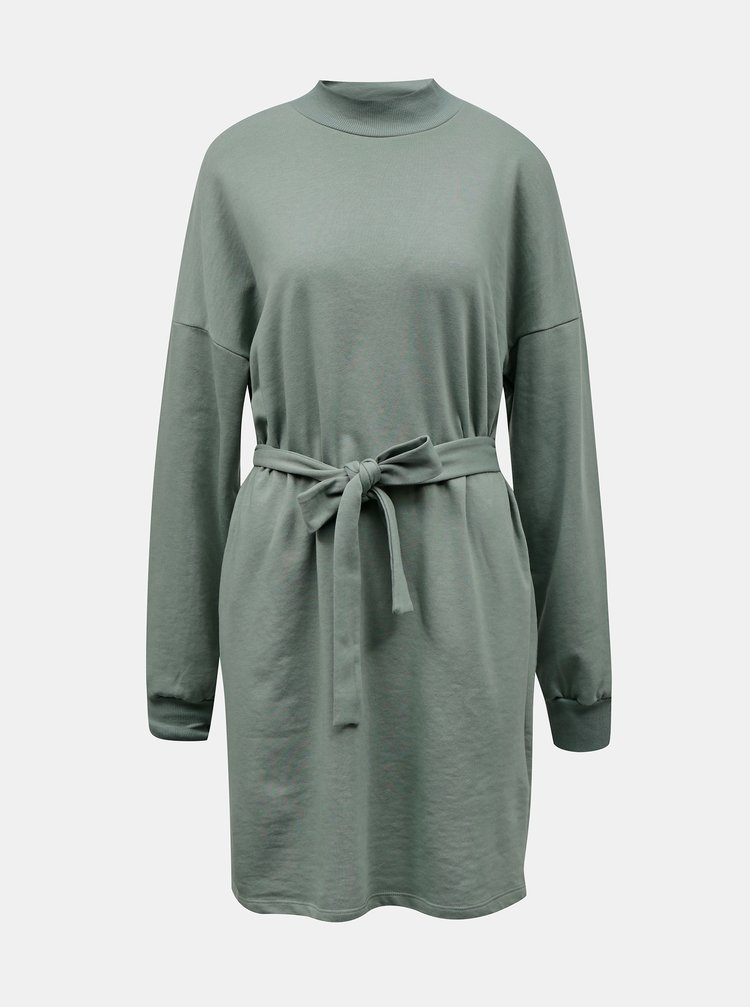 Zelené mikinové šaty Noisy May Aliah