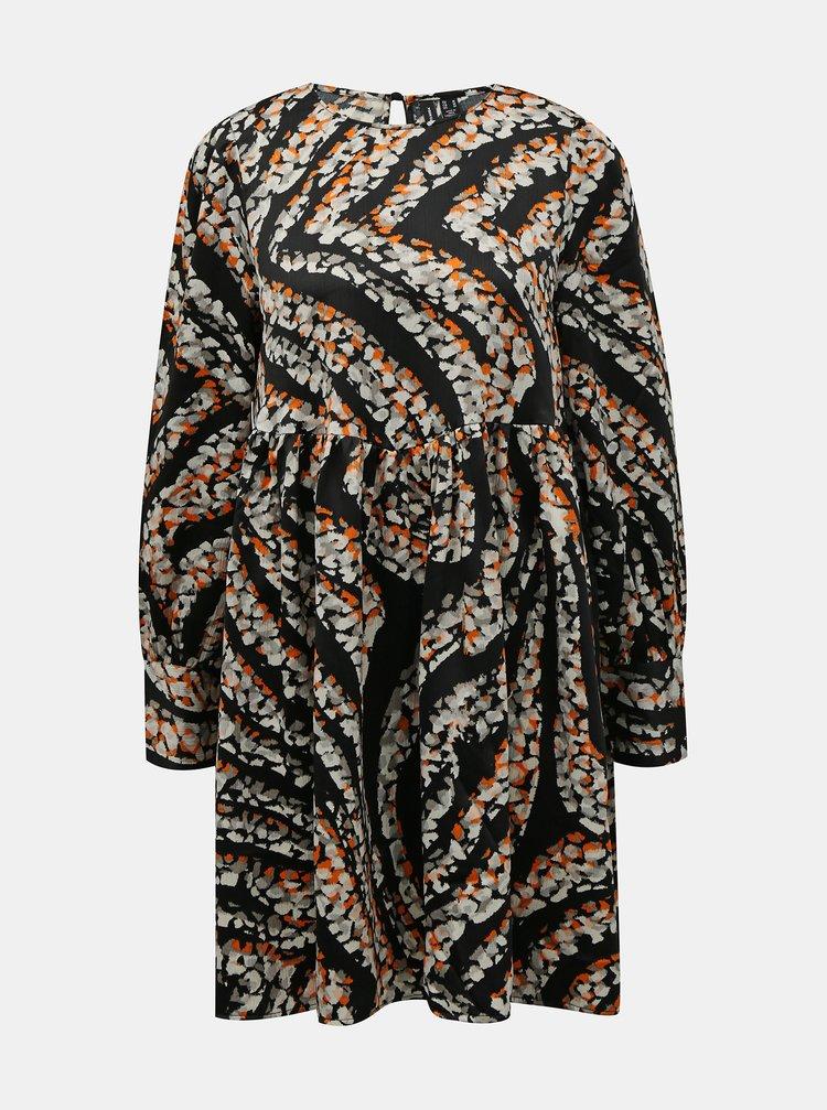 Černo-béžové vzorované šaty VERO MODA Gaja