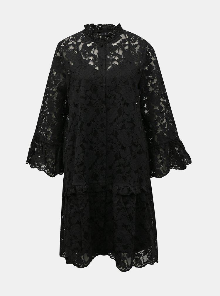 Čierne krajkové šaty VERO MODA Aurelia