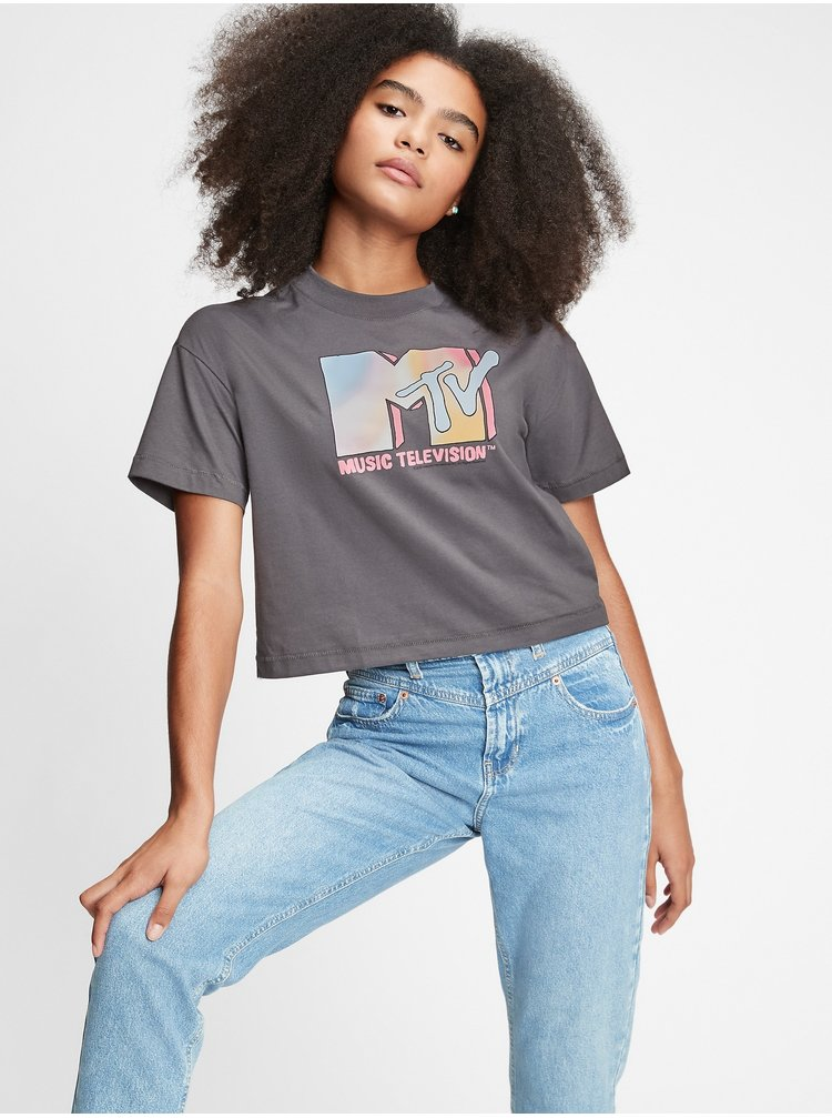 Šedé dámske tričko GAP