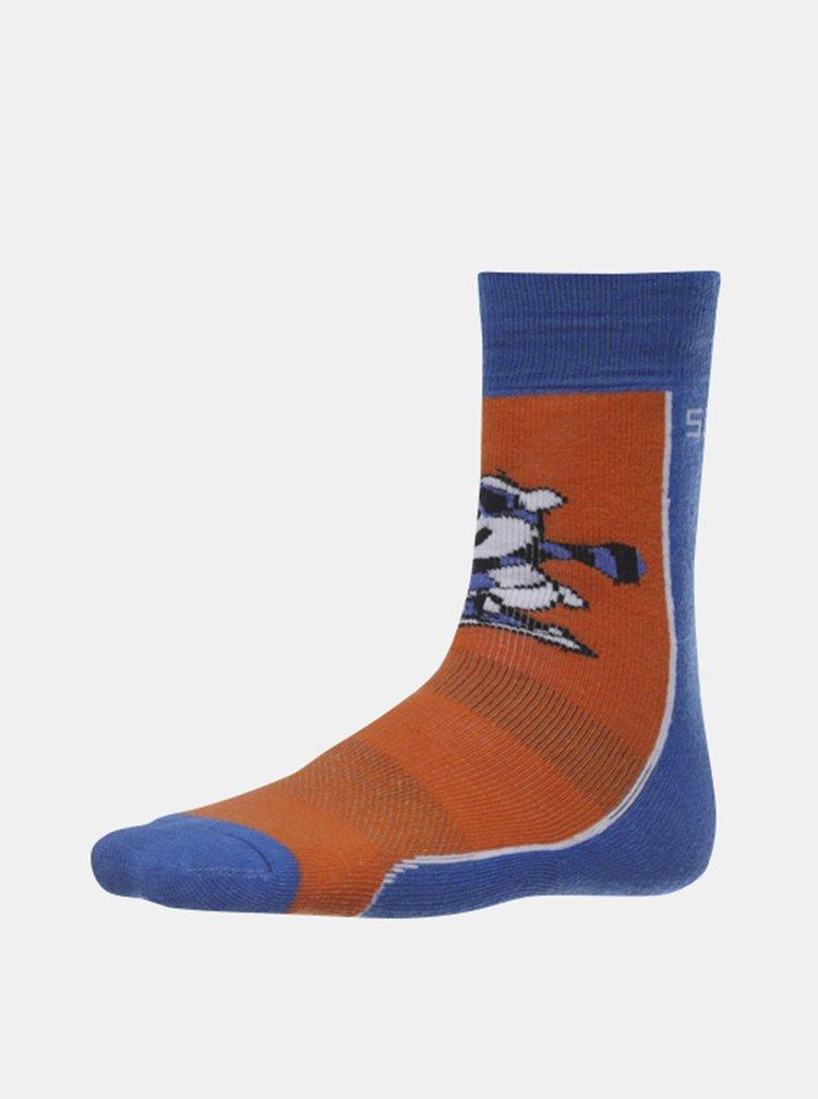 Modro-hnedé chlapčenské ponožky SAM 73