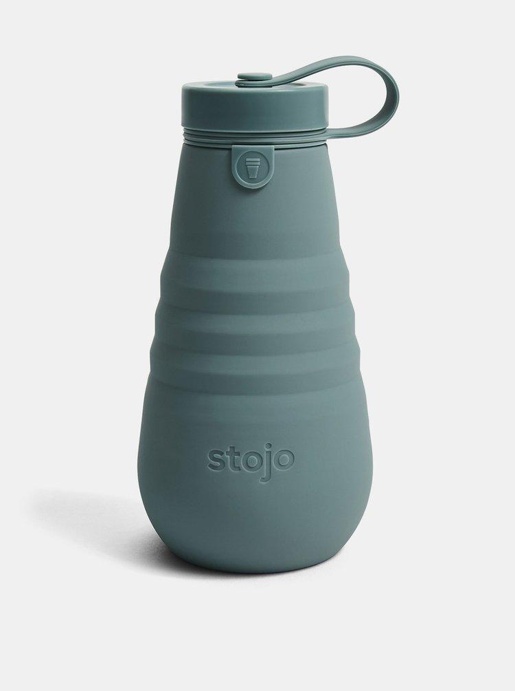 Modrý cestovní skládací láhev Stojo 590 ml