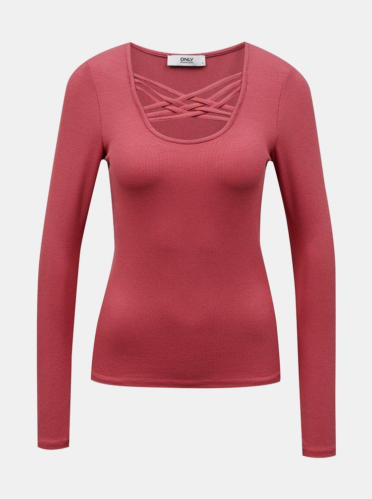 Basic tričká pre ženy ONLY - ružová