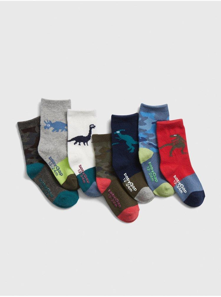 Barevné klučičí ponožky GAP 7-Pack