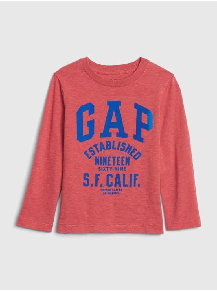 Červené chlapčenské tričko GAP Logo