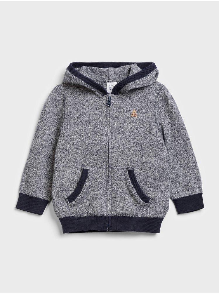 Šedý chlapčenský sveter GAP