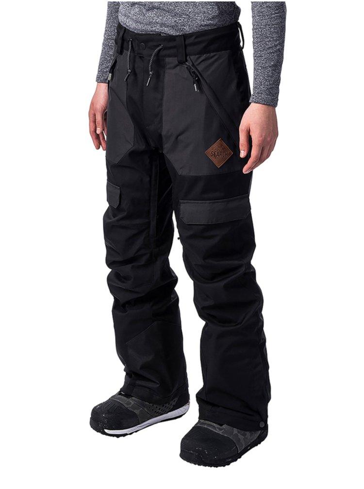 Rip Curl REVIVE JET BLACK pánské zimní kalhoty - černá