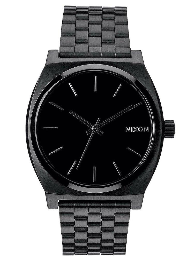 Nixon TIME TELLER ALLBLACK analogové sportovní hodinky - černá