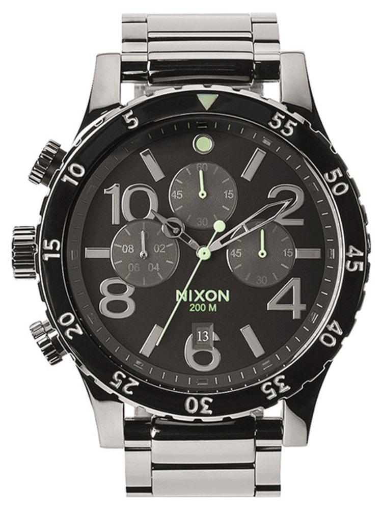 Nixon 48-20 CHRONO POLISHEDGUNMETALLUM analogové sportovní hodinky