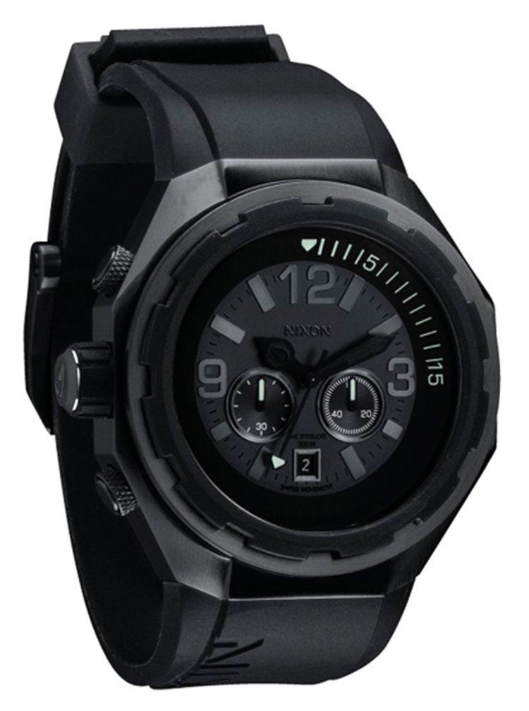 Nixon STEELCAT ALLBLACK analogové sportovní hodinky - černá