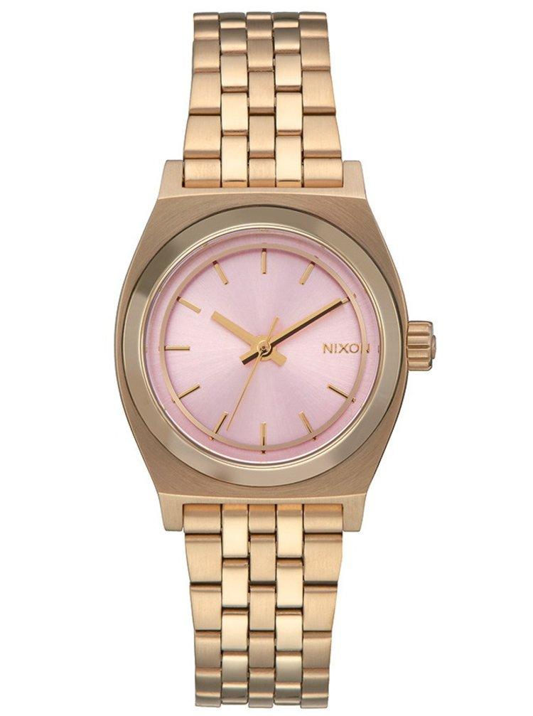 Nixon SMALL TIME TELLER LIGHTGOLDPINK analogové sportovní hodinky - růžová
