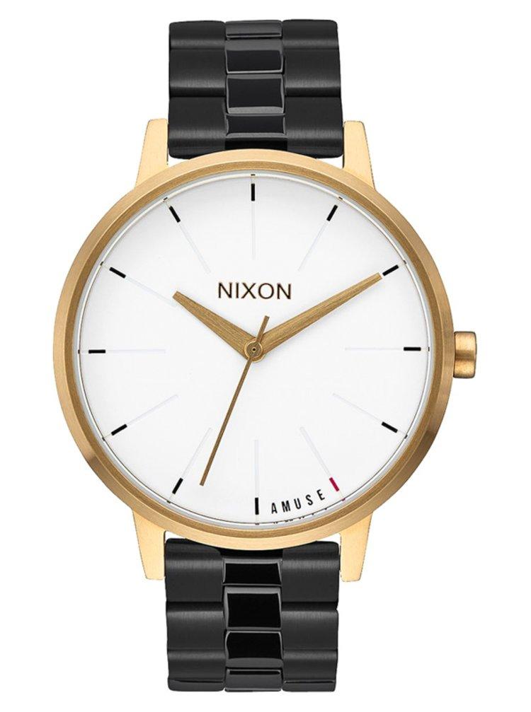 Nixon KENSINGTON LIGHTGOLDBLACK analogové sportovní hodinky - černá