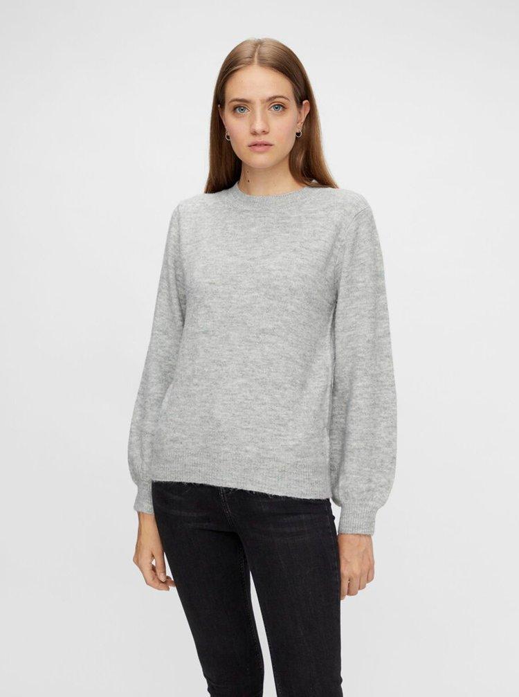 Šedý sveter Pieces Perla