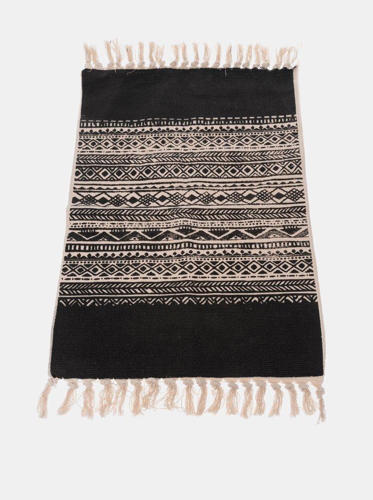Černý koberec Dakls