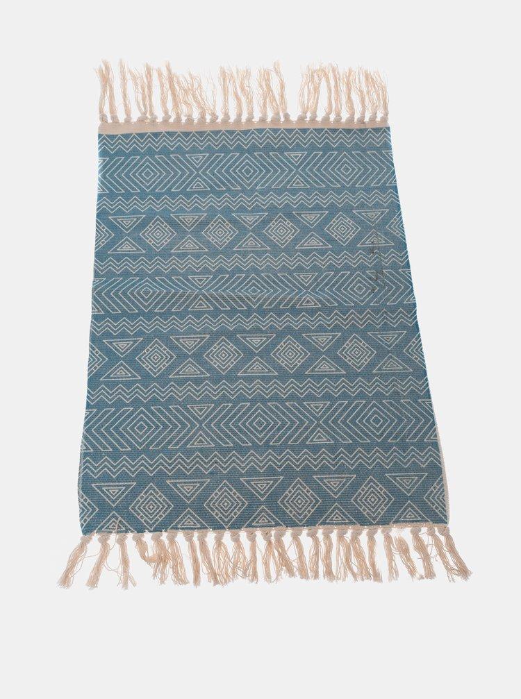 Modrý vzorovaný koberec Dakls