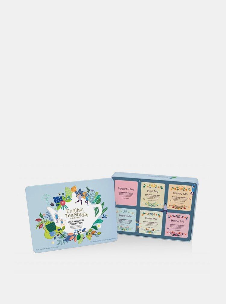 Darčeková plechová kazeta bio čajov English Tea Shop Wellness 36 ks