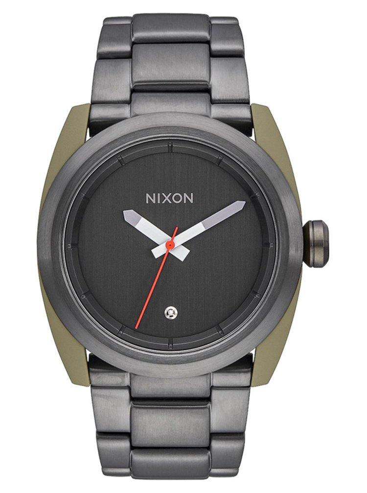 Nixon KINGPIN SAGEGUNMETAL analogové sportovní hodinky