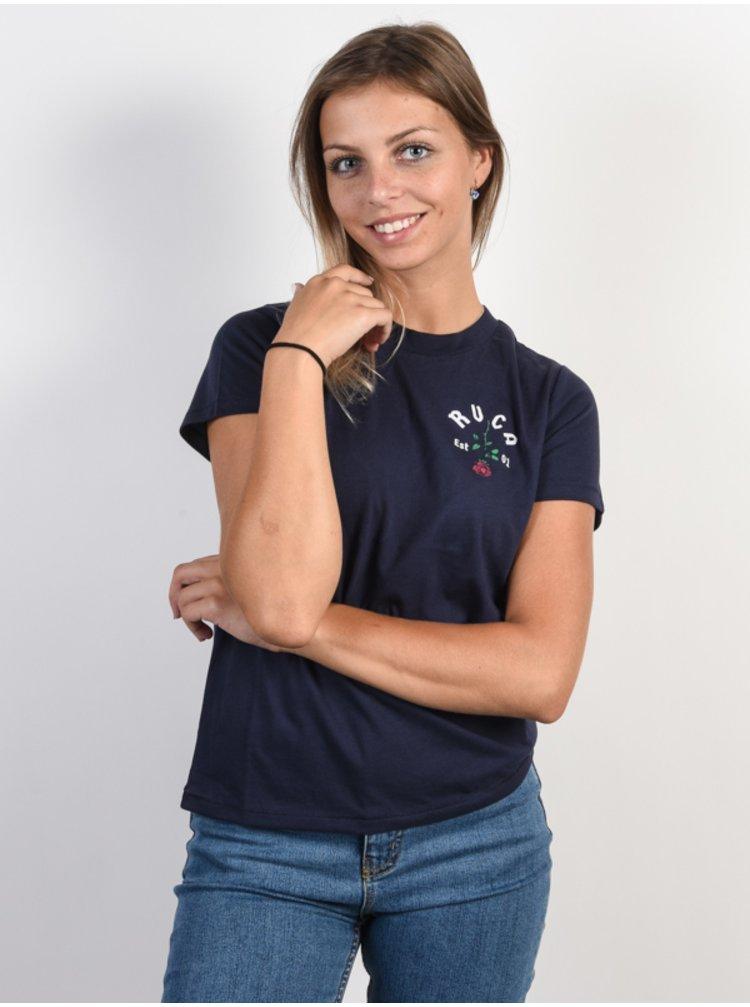 RVCA ROSIE INK dámské triko s krátkým rukávem - modrá
