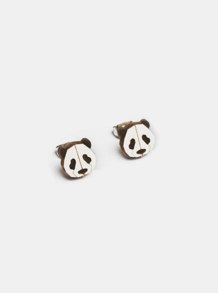 Dřevěné náušnice Panda Earrings BeWooden