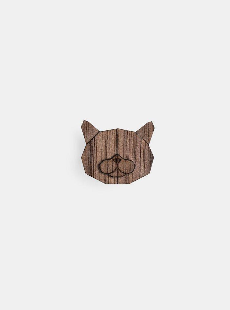 Dřevěná brož British Cat Brooch BeWooden