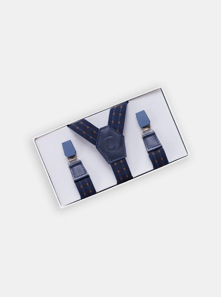 Kožené šle Astro Suspenders s dřevěnými detaily BeWooden