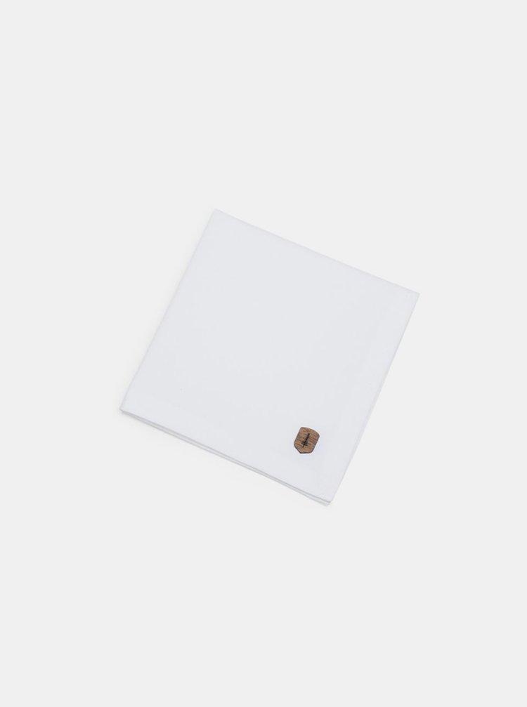 Bílý kapesníček do saka White Square BeWooden