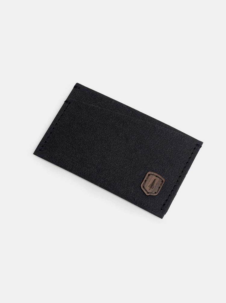 Černý vizitkovník z pratelného papíru Nox Washpaper Card Holder BeWooden