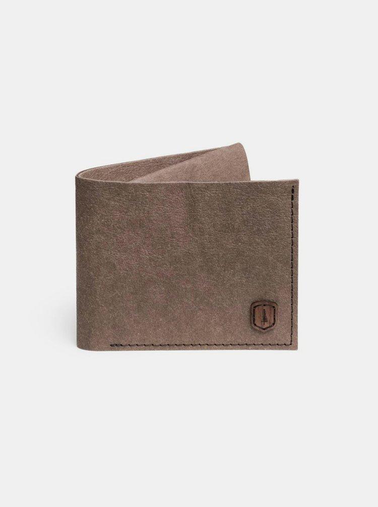 Hnědá peněženka z pratelného papíru Brunn Washpaper Wallet BeWooden