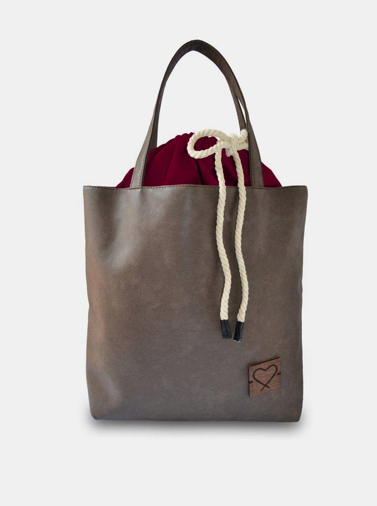 Xiss hnědá multifunkční kabelka Redwine Forever