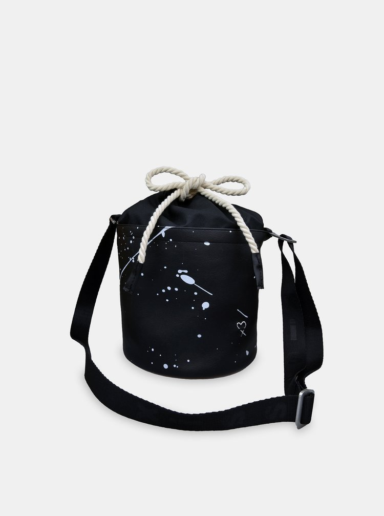 Xiss čierne crossbody kabelka Mini Black Splash