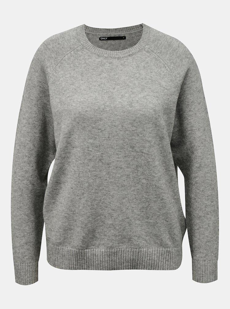 Šedý sveter ONLY Lesly