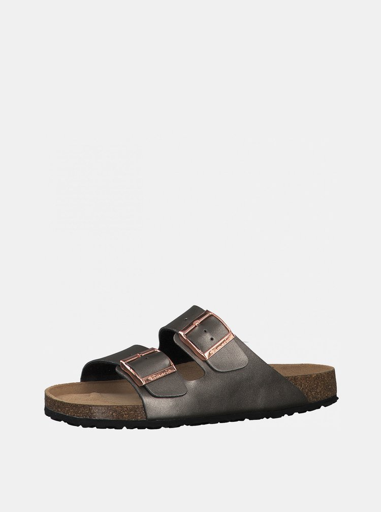 Šedé pantofle Tamaris
