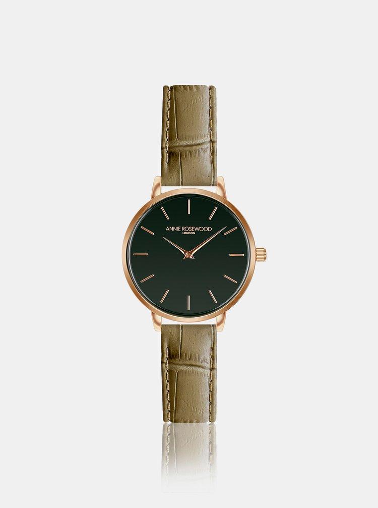 Dámské hodinky se světle hnědým koženým páskem Annie Rosewood