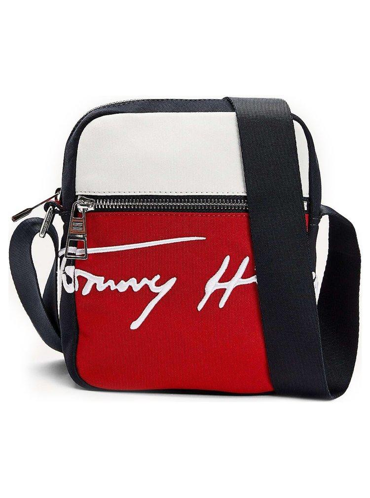 Tommy Hilfiger barevná pánská taška Signature Mini Reporter
