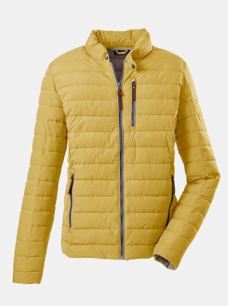 Žlutá pánská prošívaná bunda killtec