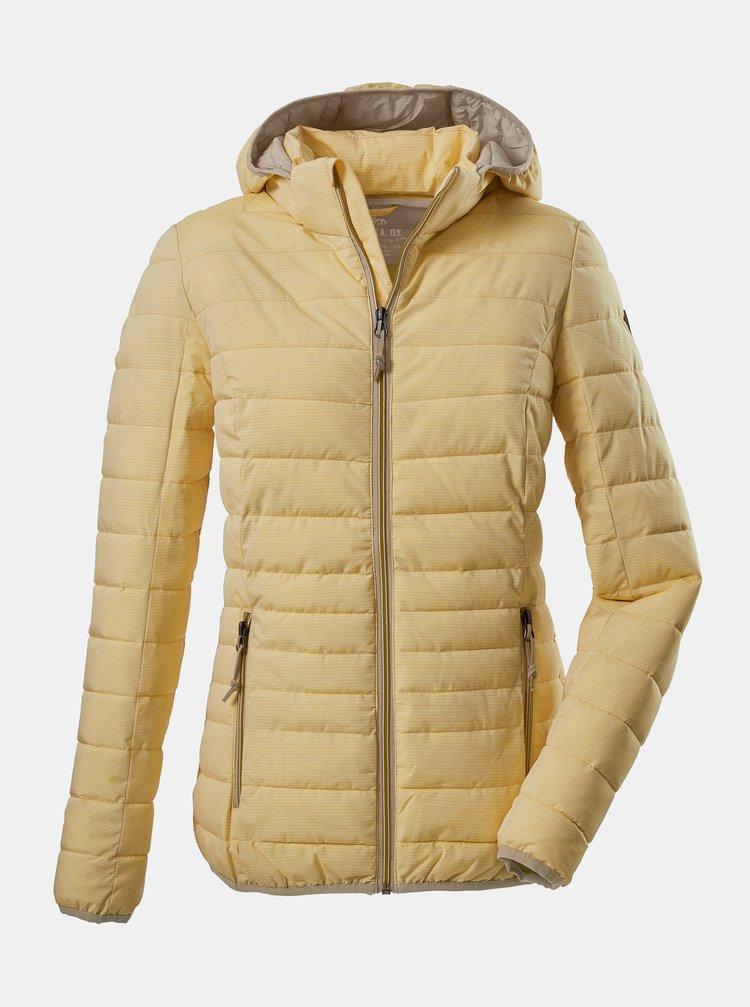 Žltá dámska prešívaná bunda killtec