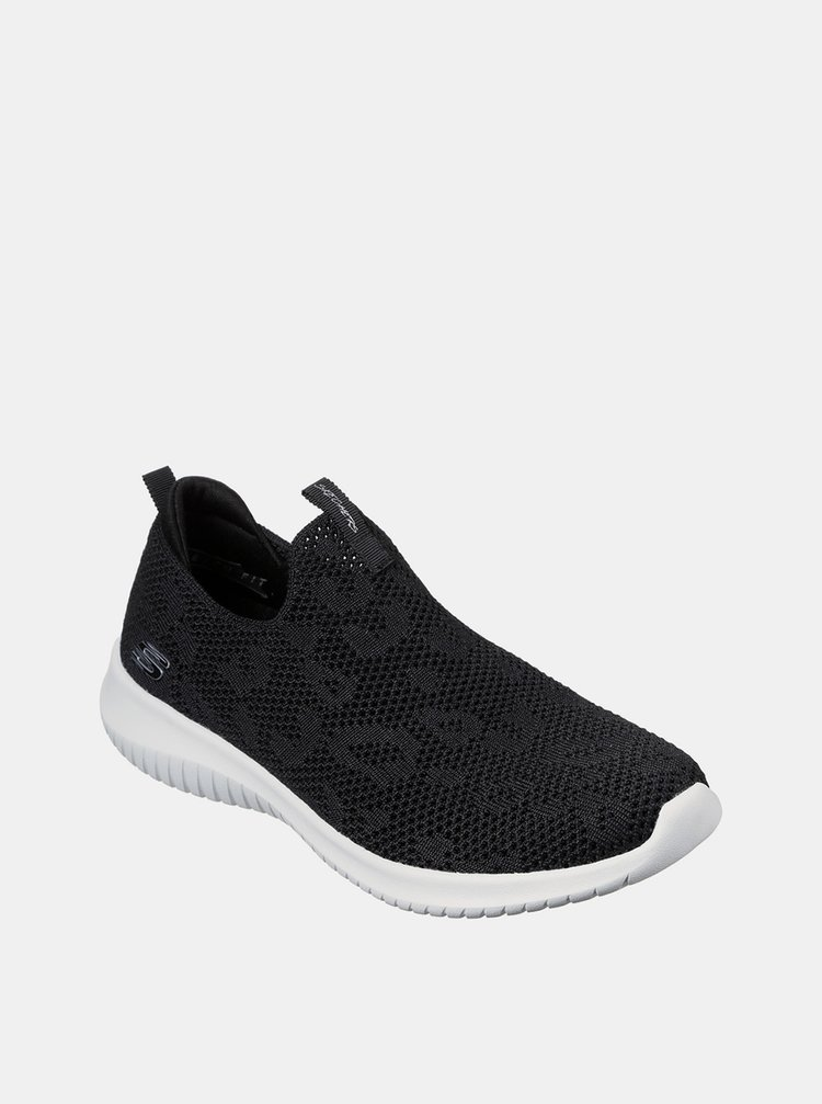 Skechers černé slip on Ultra Flex Fast Talker