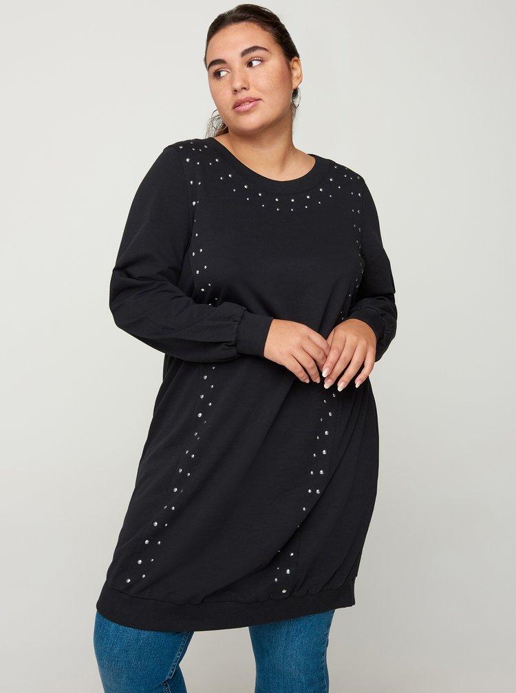 Černé svetrové šaty Zizzi