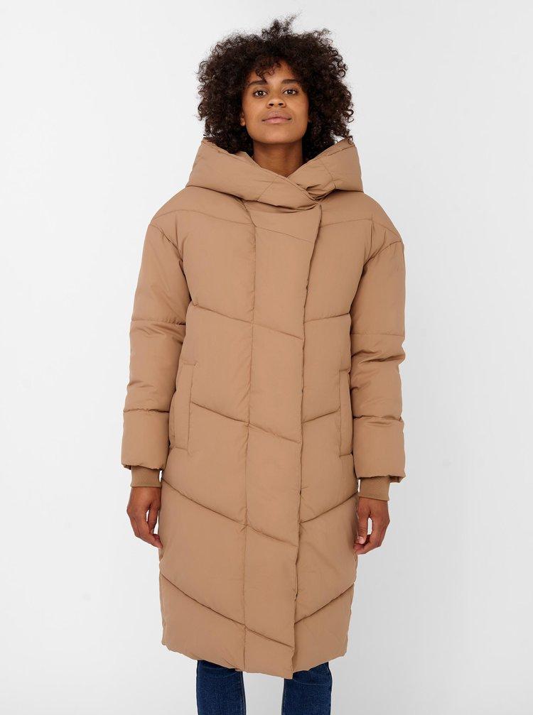 Béžový zimní prošívaný kabát Noisy May Tally