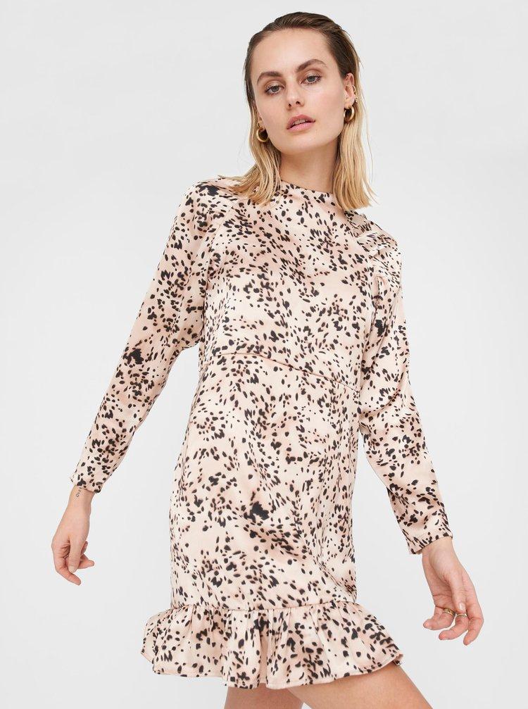Starorůžové vzorované šaty Noisy May Satta
