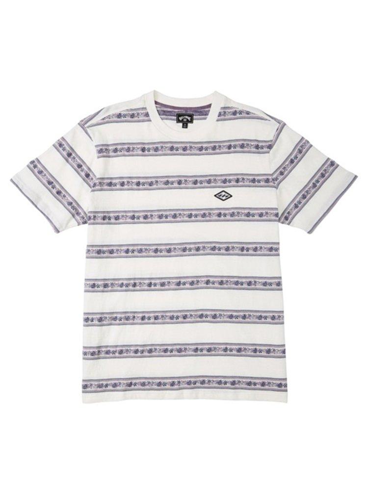 Billabong AUSTIN off white pánské triko s krátkým rukávem - šedá
