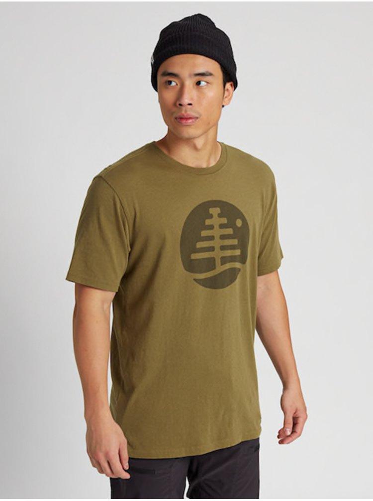 Burton FAMILY TREE MARTINI OLIVE pánské triko s krátkým rukávem - zelená