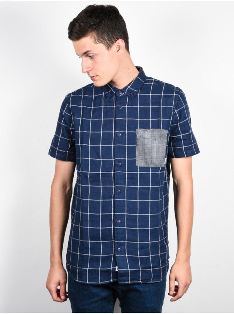 Element DALE midnight blue košile pro muže krátký rukáv - modrá