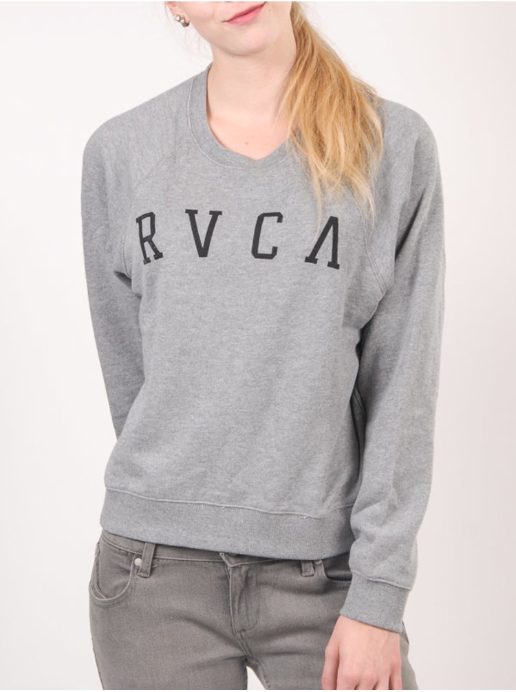 RVCA RVCA ARC ATHLETIC HEATHER mikina dámská - šedá