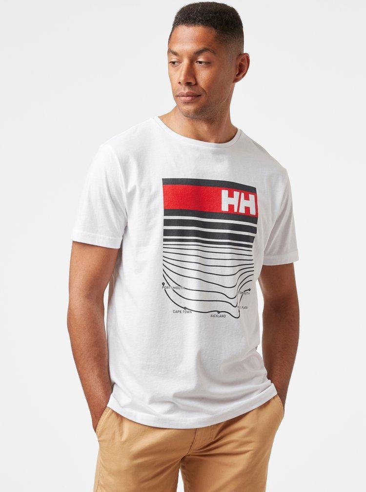 Bílé pánské tričko s potiskem HELLY HANSEN