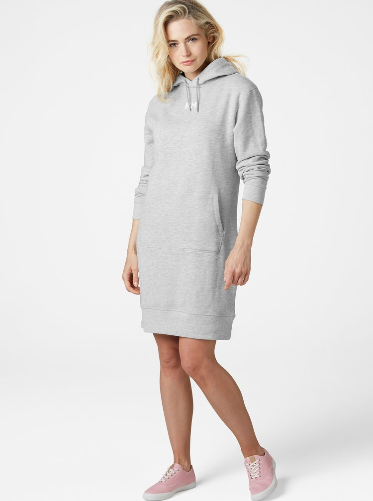 Svetlošedé mikinové šaty HELLY HANSEN Active