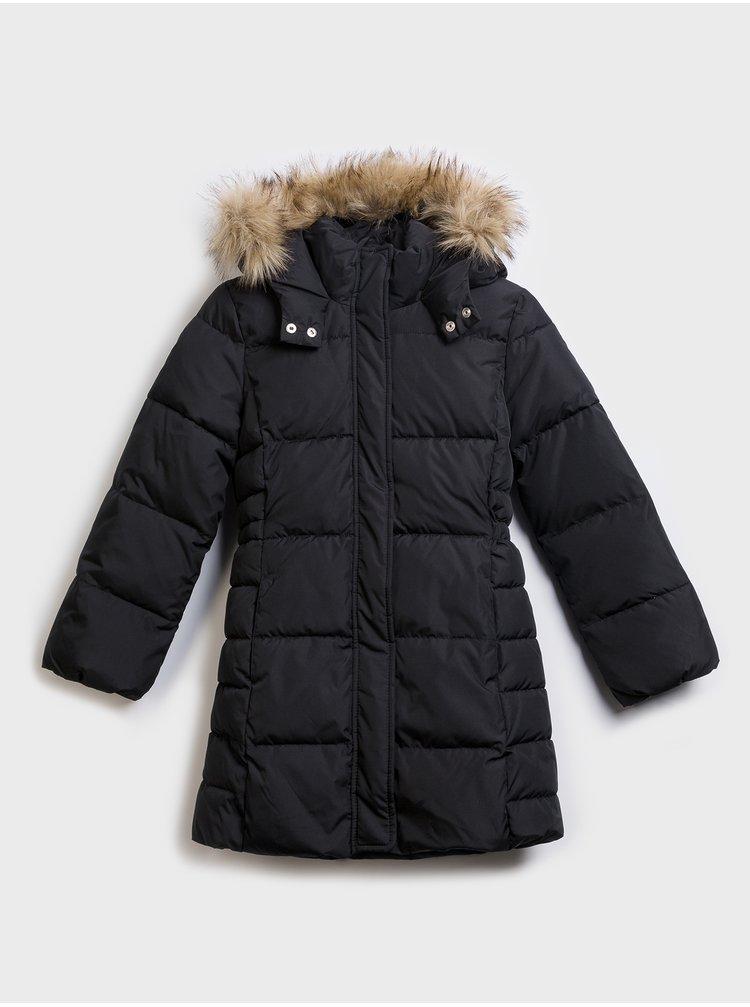 Černý holčičí kabát GAP