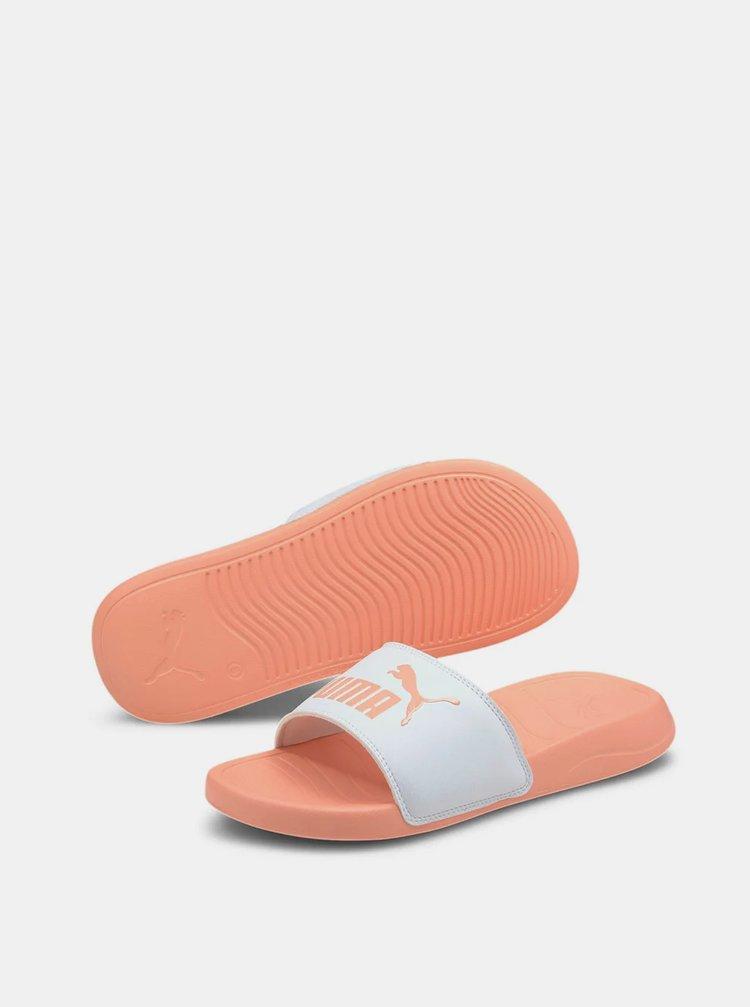 Oranžové dámské pantofle Puma