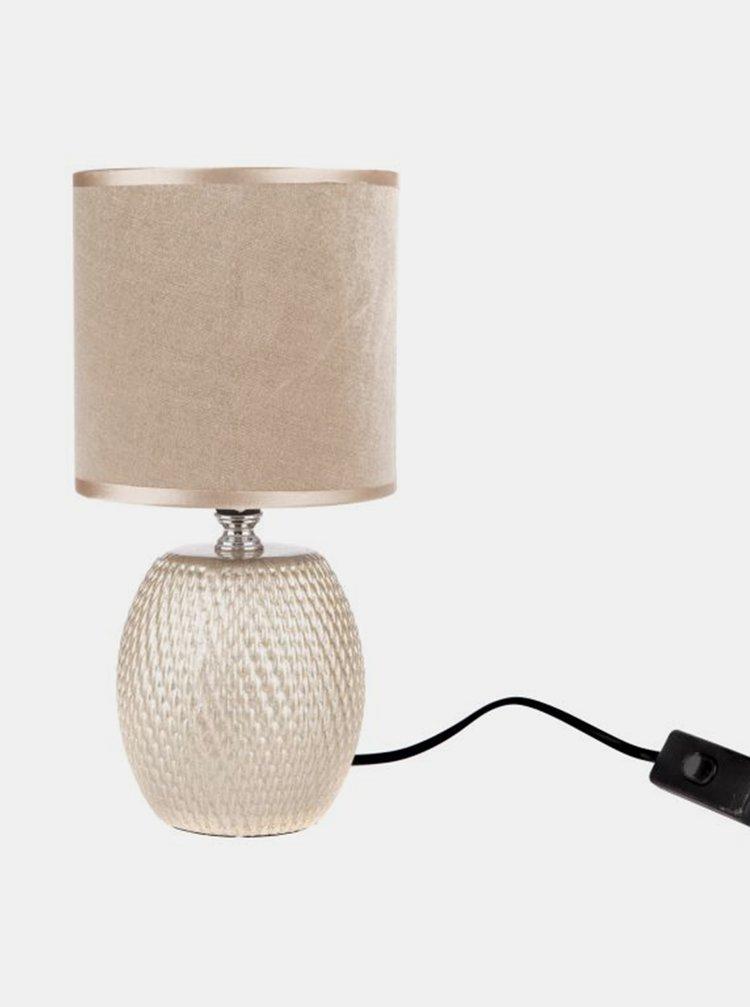 Béžová keramická stolní lampa Dakls